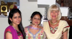 With Kamya (L) and Gauri